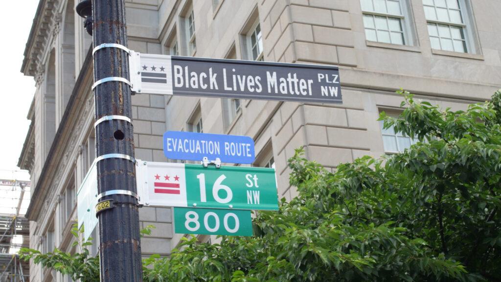 DC street sign Black Lives Matter Plaza
